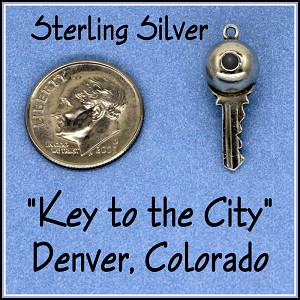 Sterling Silver Lample Key Charm Stanhope Denver Colorado