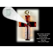 Amber Cross Pendant with Choice of Prayer in Peep