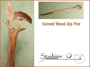 Carved Wood Stanhope Dip Pen