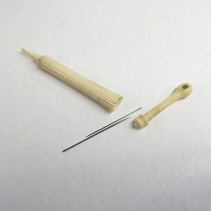 Bone Stanhope Parasol Sewing Needle Holder
