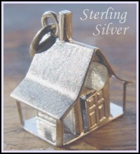 God Bless Our Home Sterling Silver Stanhope Charm