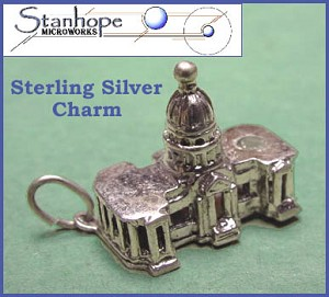 US Capitol Vintage Sterling Silver Stanhope Charm