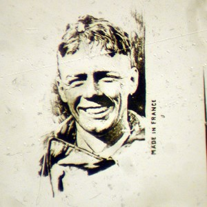 Microscopic Photo Of Charles Lindbergh