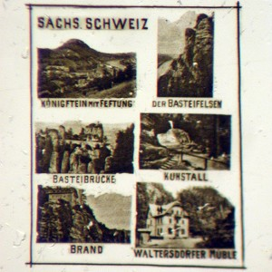 Microscopic Photo with Six Views from Switzerland