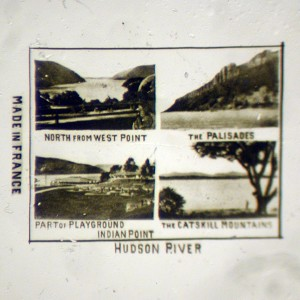 Microphoto Showing Four Views of the Hudson River