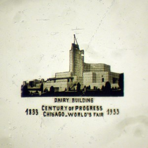 Microphoto Showing Dairy Building at 1933 World's Fair