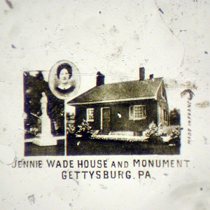 Microphoto Showing Jennie Wade House in Gettysburg, PA