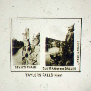 Microphoto Showing Two Views From Taylor Falls Minnesota