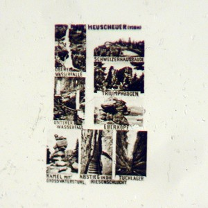 Microphoto Showing Eight Views of Table Mountain